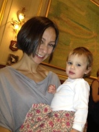 Having dinner in Bologna, Italy, April 2012